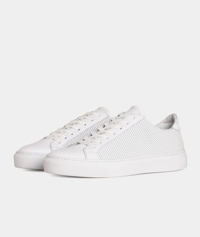 Type - White Perforated Leather