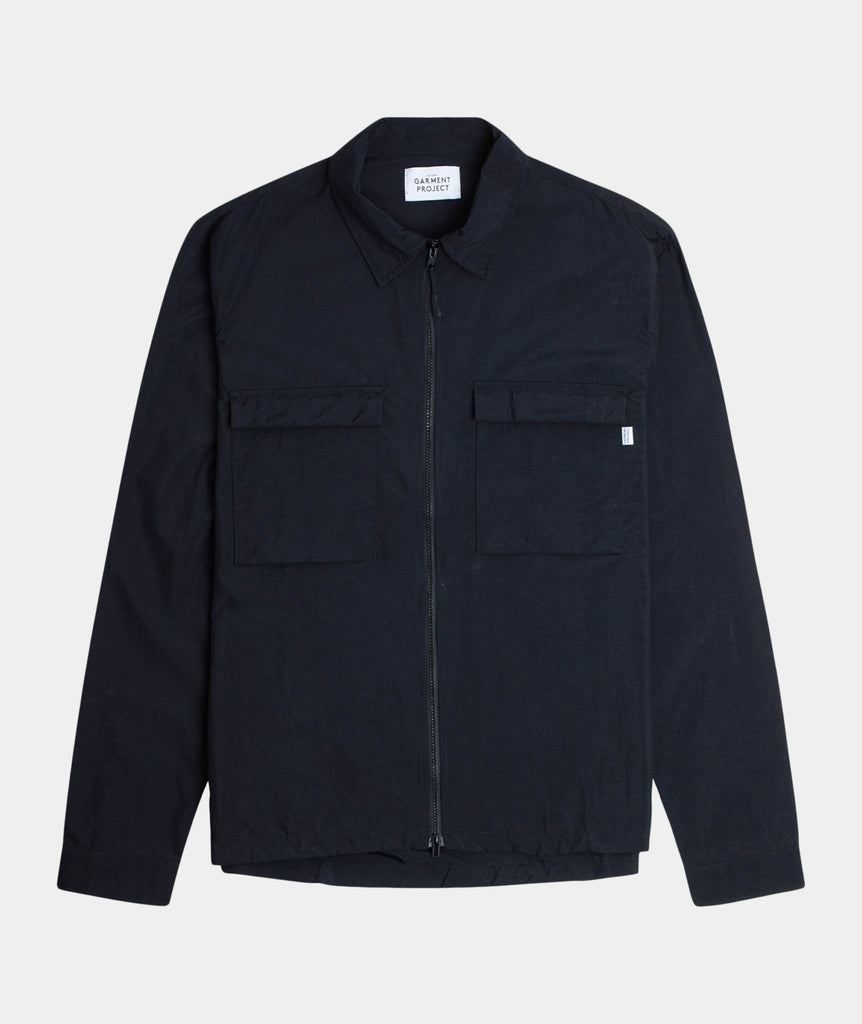 GARMENT PROJECT MAN Zip Overshirt - Black Zip Overshirt 999 Black