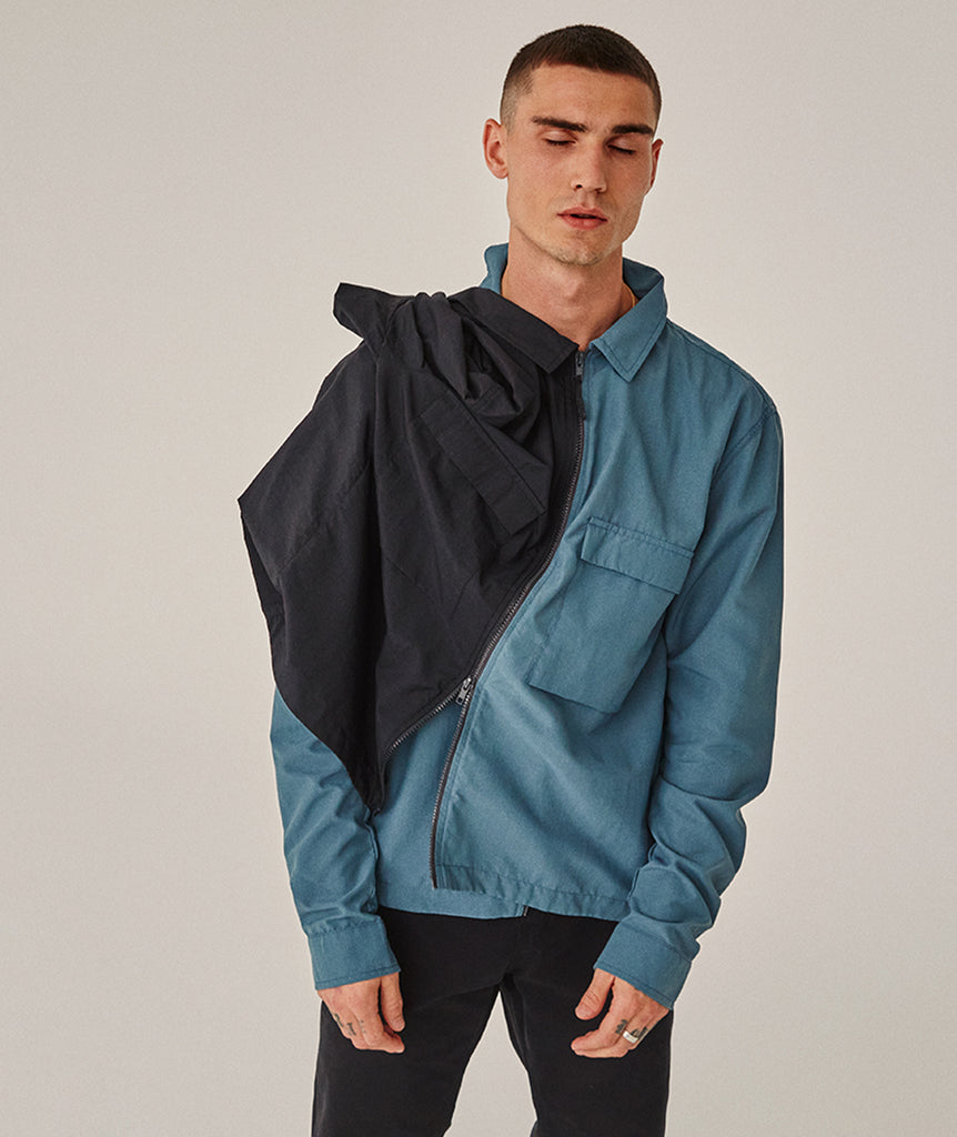 GARMENT PROJECT MAN Zip Overshirt - Brain Zip Overshirt 270 Brain