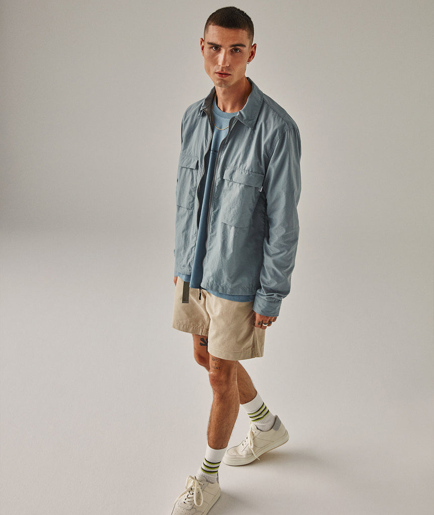 GARMENT PROJECT MAN Zip Overshirt - Light Grey Zip Overshirt 410 Light Grey