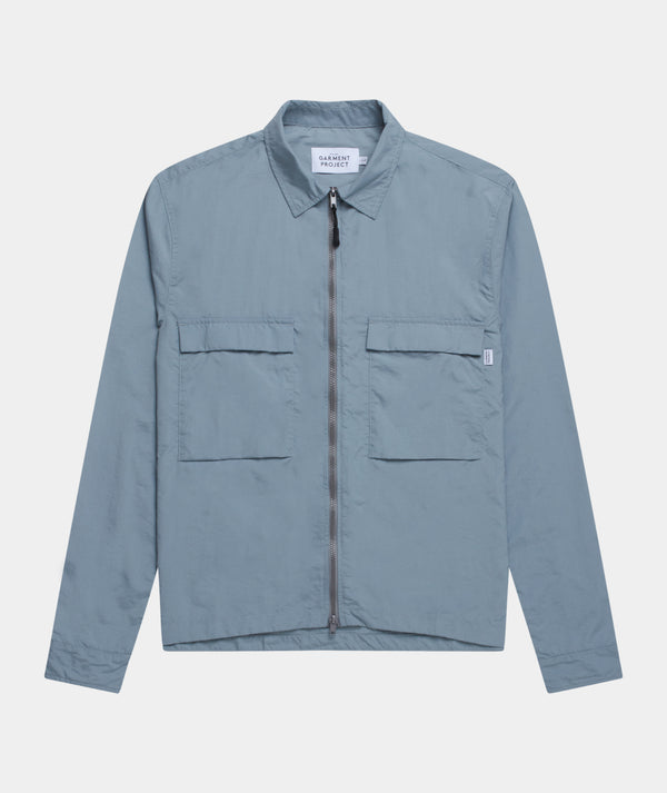 Zip Overshirt - Light Grey