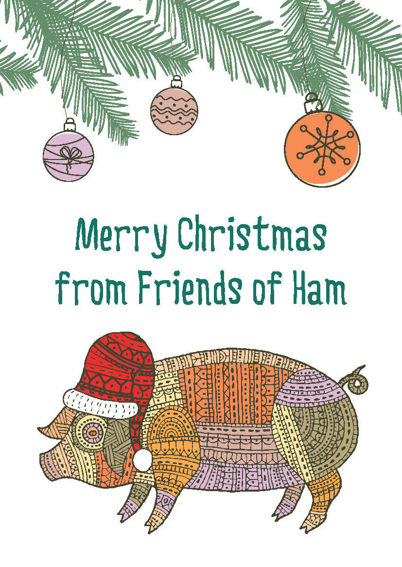 merry christmas from friends of ham