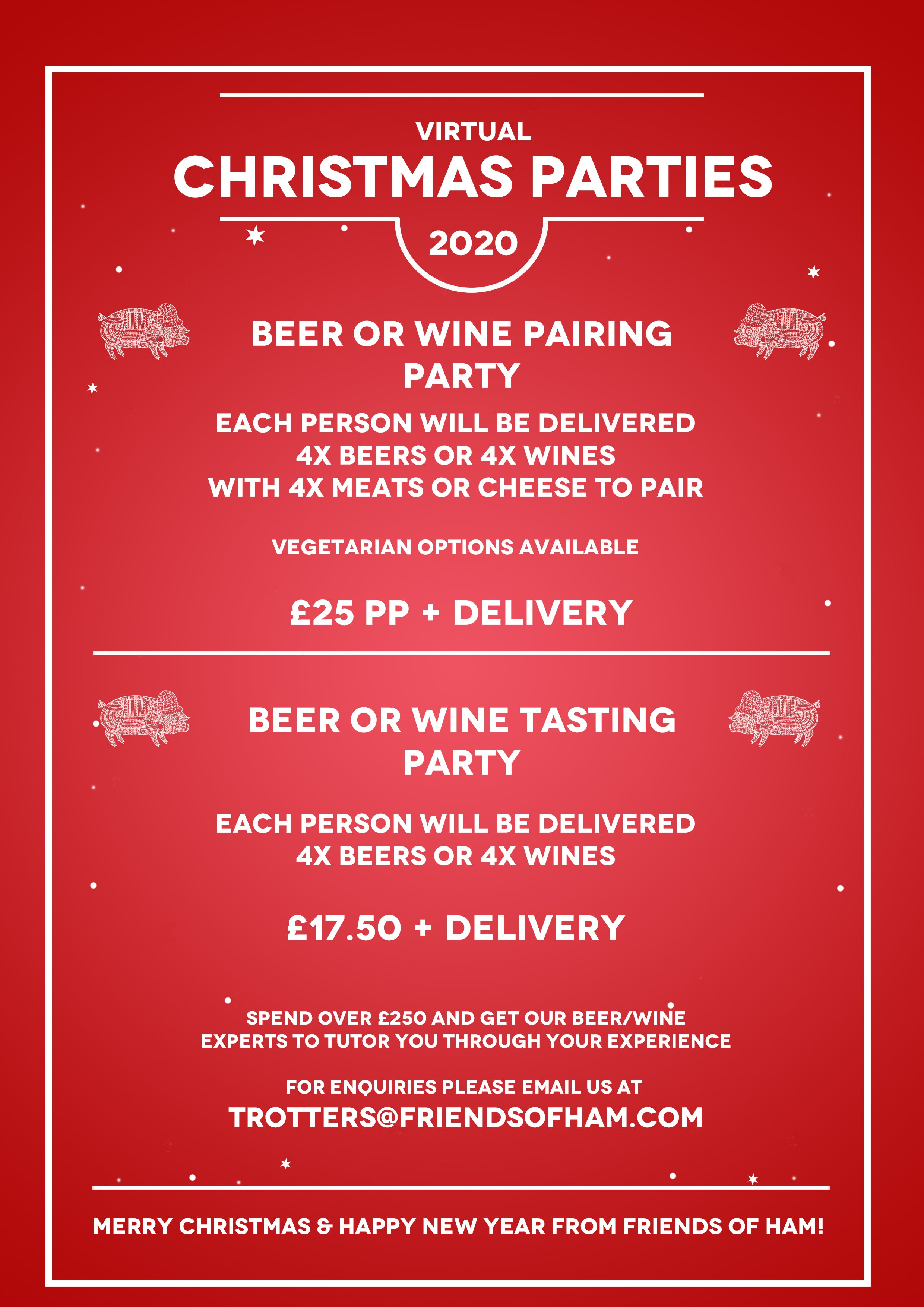 virtual christmas parties from friends of ham