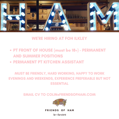 friends of ham ilkley are hiring part time staff
