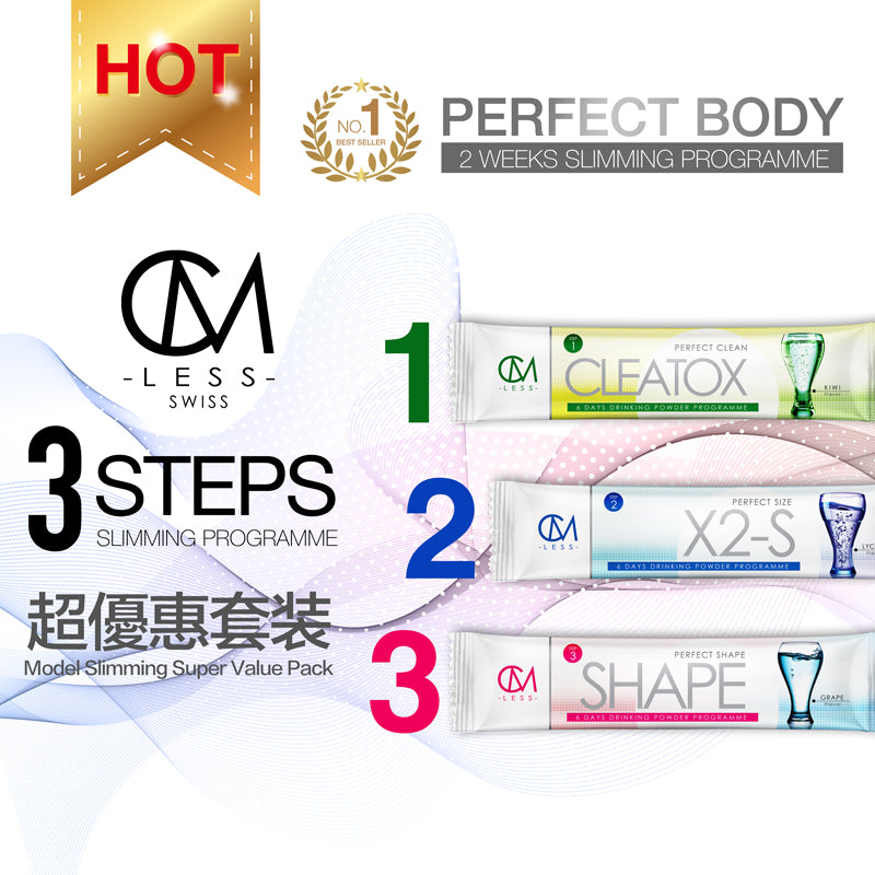 CM LESS Model Slimming 超值裝 Step 1,2,3  (Super Value Pack Step 1,2,3)