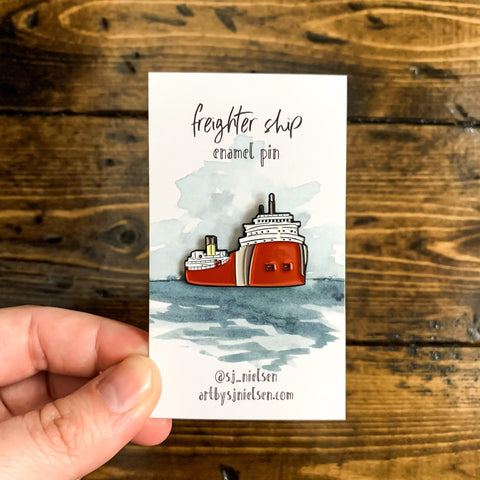 Freighter ship pin