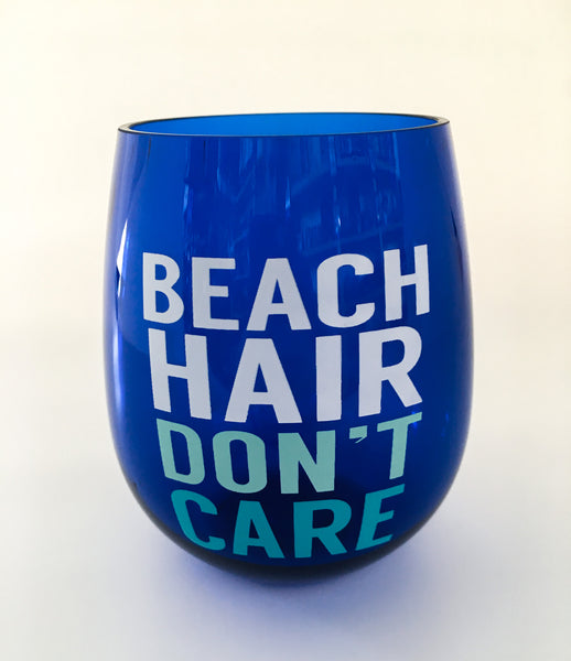 Beach Hair Wine Tumbler