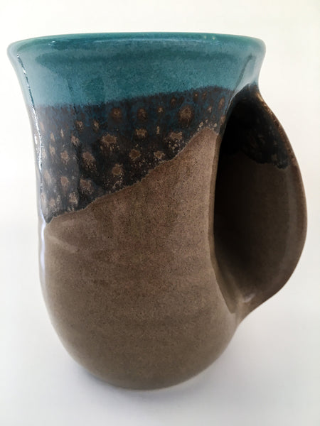 Lake Superior Handwarming Mug Teal/Tan
