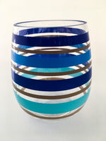 Striped Wine Tumbler