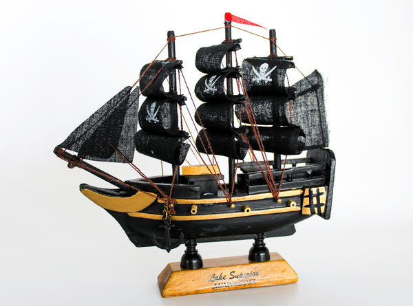 Small Black Pirate Ship