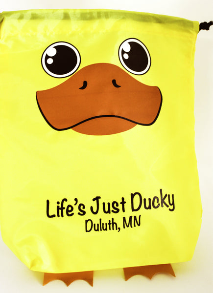 Life's Just Ducky Drawstring Bag
