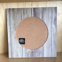 Faux wood round frame