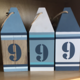 Wooden decorative numbers