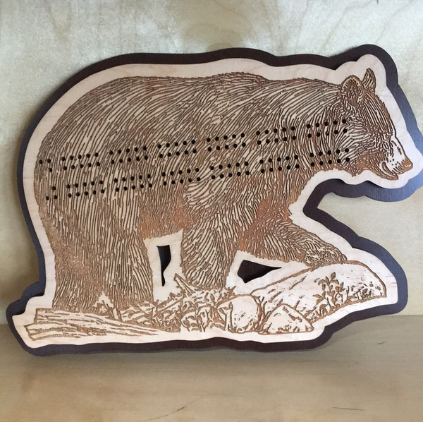 Bear Cribbage Board