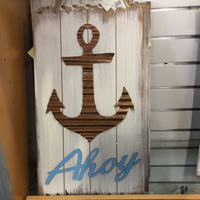 Ahoy wood and metal