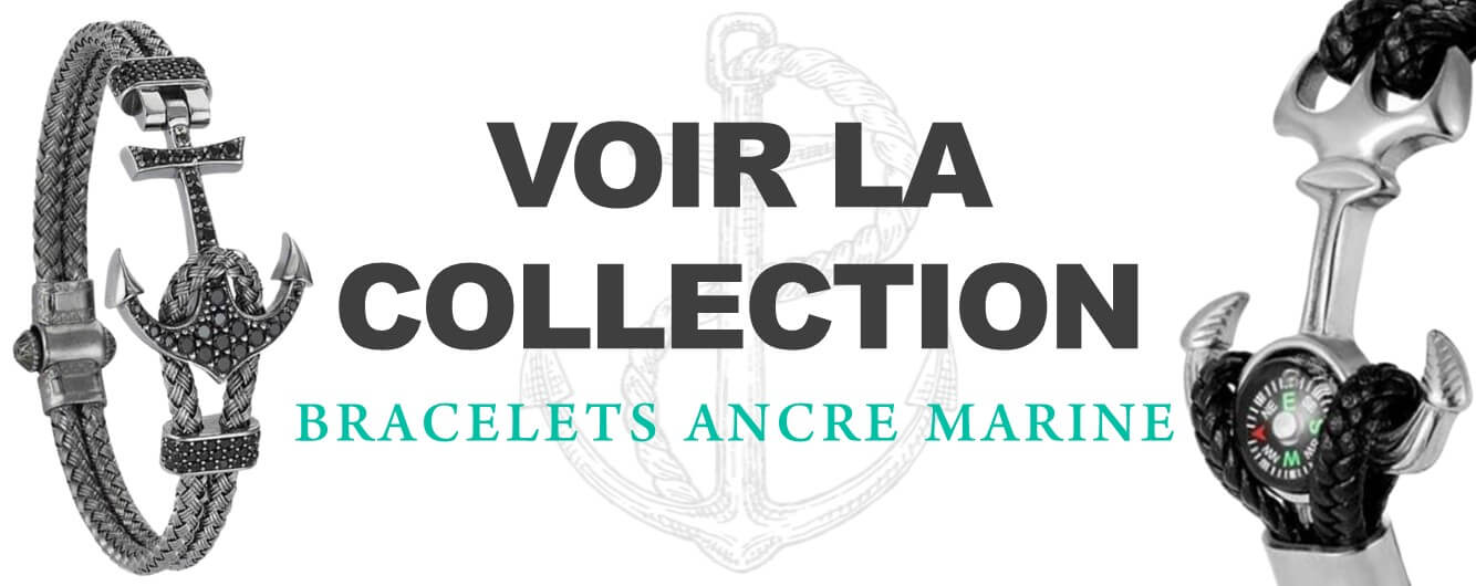 Collection bracelets ancre marine