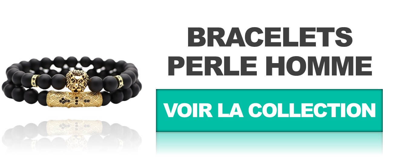 Collection bracelet perle homme