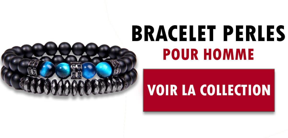 Collection bracelets perle homme
