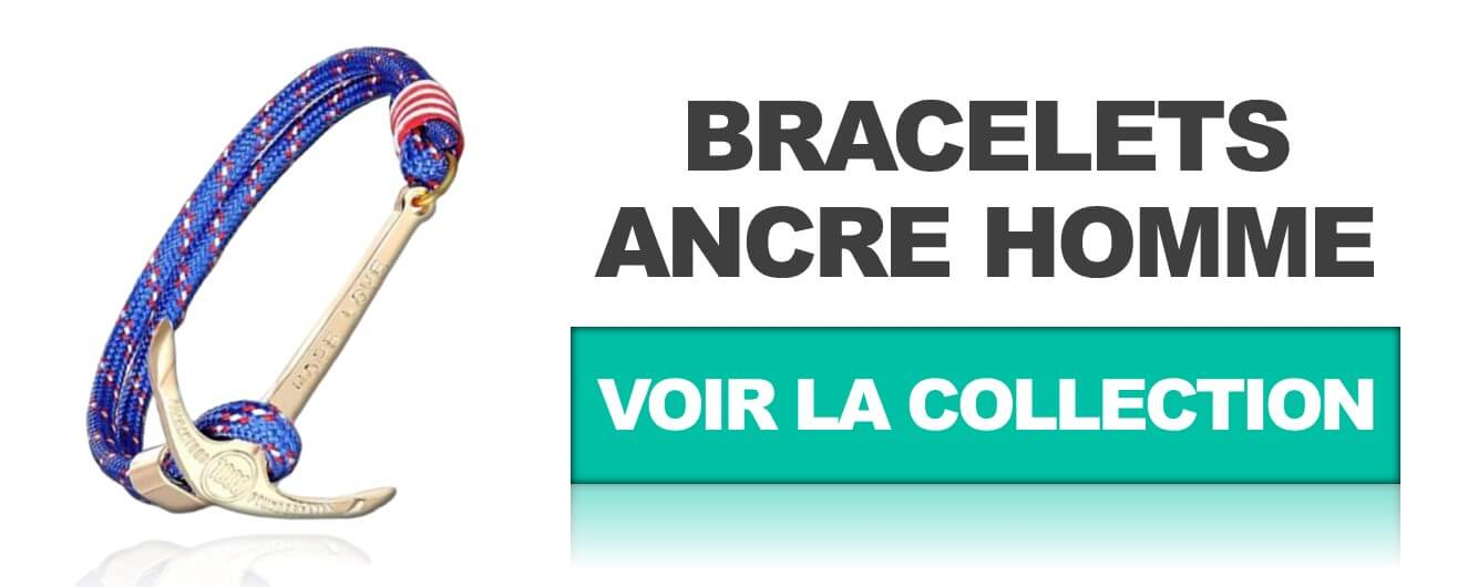 collection bracelet ancre homme