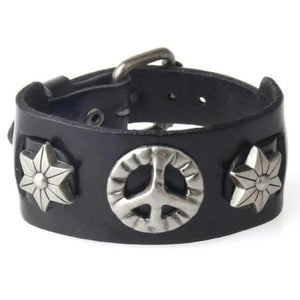 Bracelet de force Hippie en Cuir