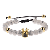 Bracelet Perle Couronne or