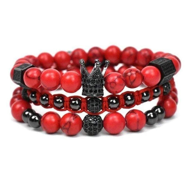 Bracelet Homme Rouge Luxe