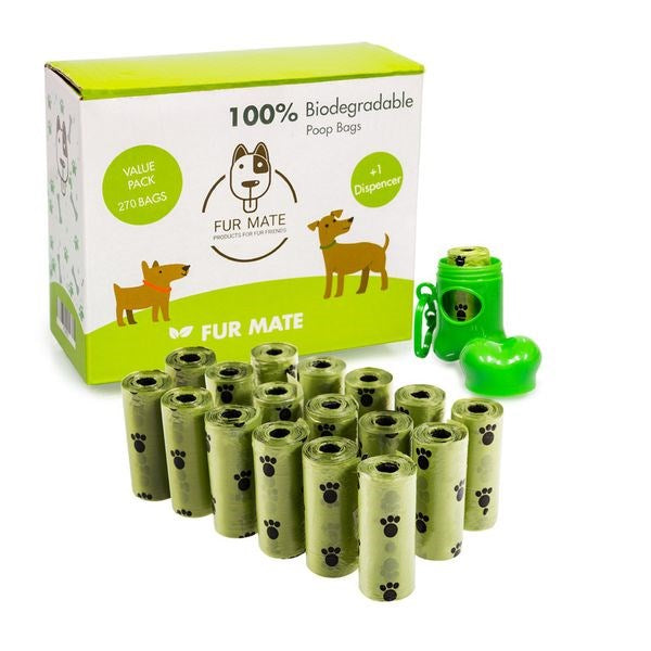 FurMate Eco-Friendy 100% Biodegradable Dog Poop Bag - 18 Roll Set