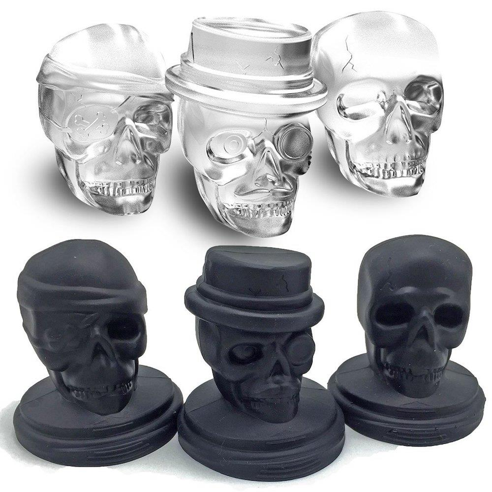 ALTA Silicone Skull Ice Moulds with Plastic Stand - Set of 3