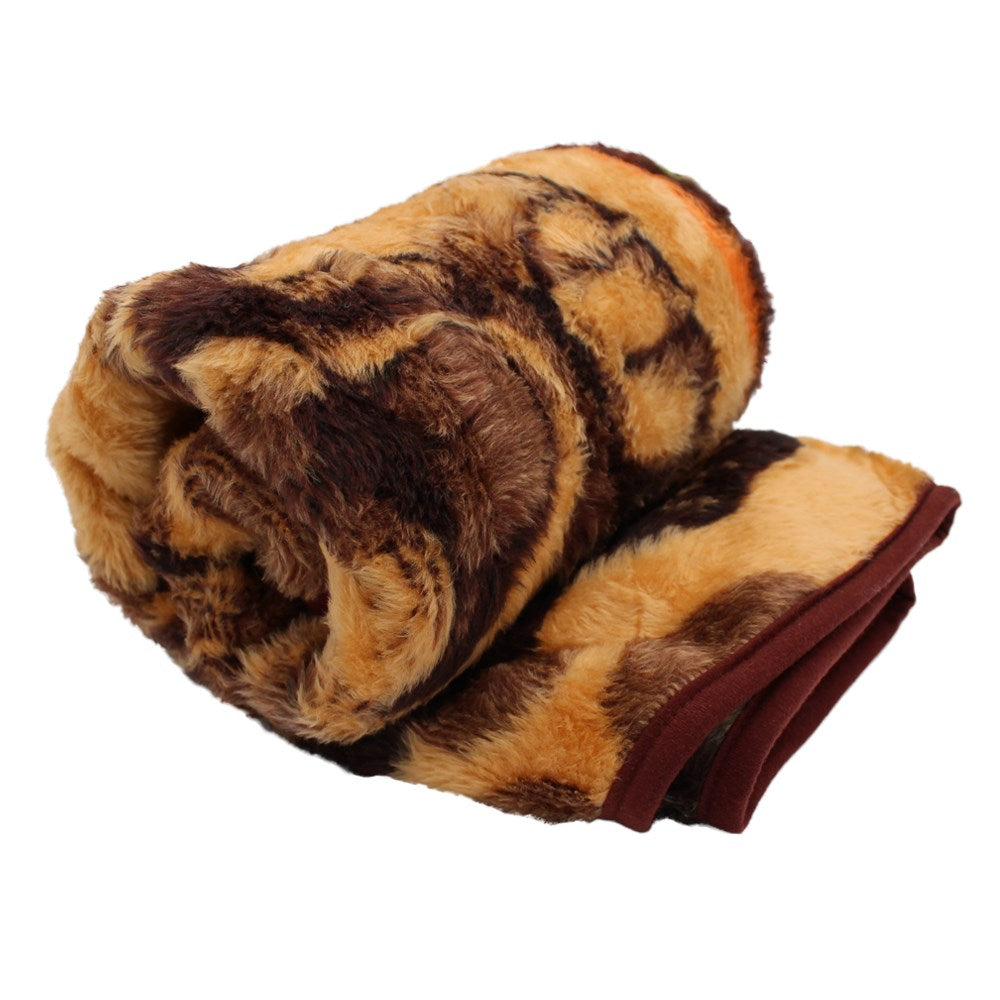 Aranda Super Soft Large Pet Blanket - Puppy  Amber/Chocolate
