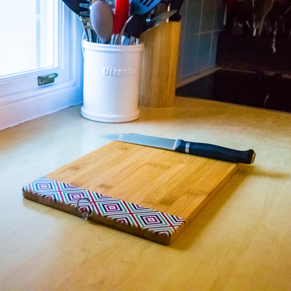 ALTA Bamboo Cutting Board with Pattern - Colour Stripes