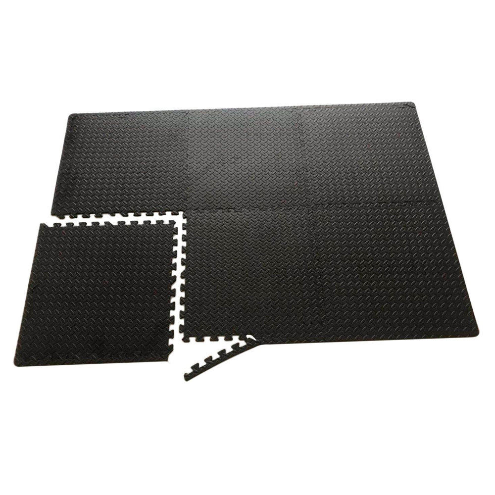 Jiggy Mats Eva Gym Floor Mat - Black 6 Piece