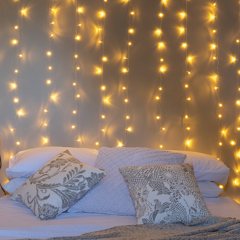 Litehouse Curtain LED Warm White Fairy Lights - 10 x 30 LED Strings