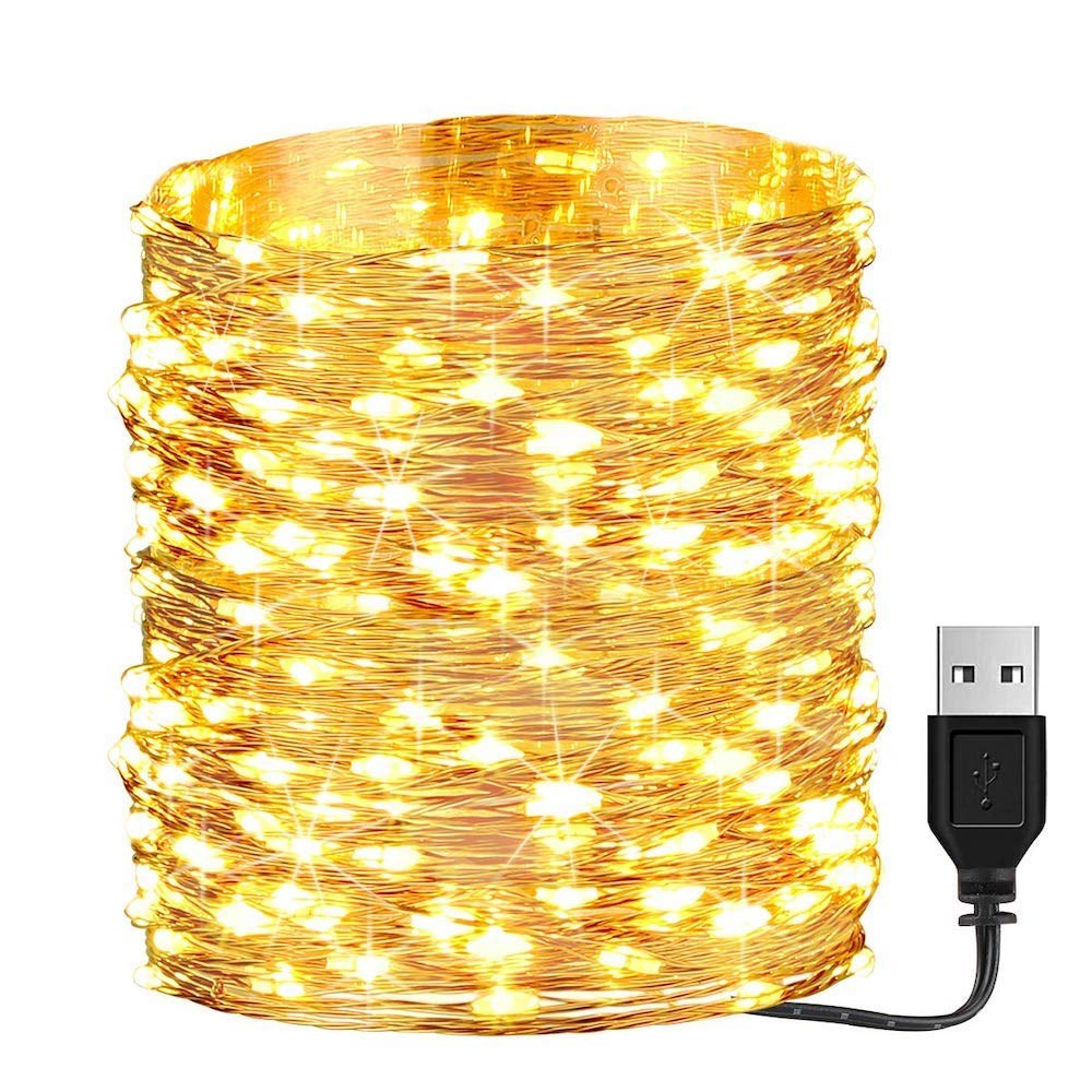 Litehouse 200LED Copper Warm White USB Fairy Lights 20m