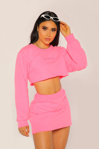 """BADGAL"" Hot Pink Crewneck Set"