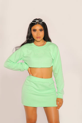 """BADGAL"" Mint Crewneck Set"