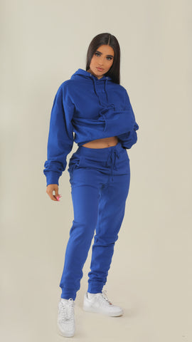 """BADGAL"" Royal Blue Joggers"