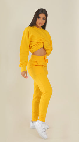 """BADGAL"" Yellow Joggers"