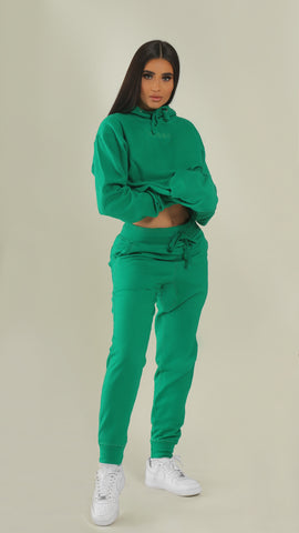 """BADGAL"" Lucky Green Joggers"