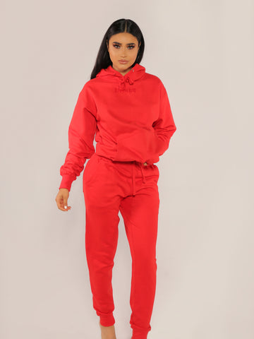 """BADGAL"" Red Joggers"