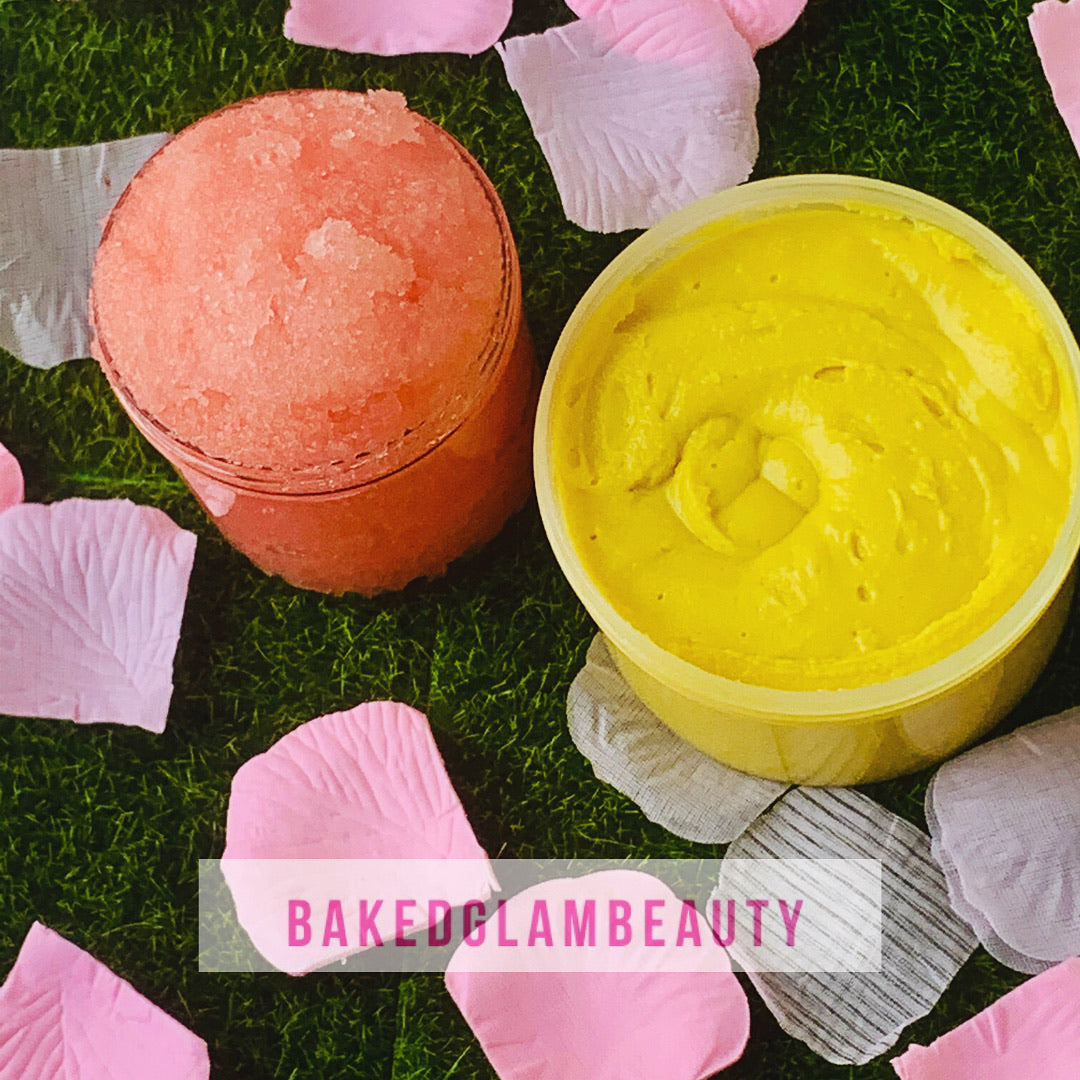 Whipped Body Butter and Body Scrub Combo Pack