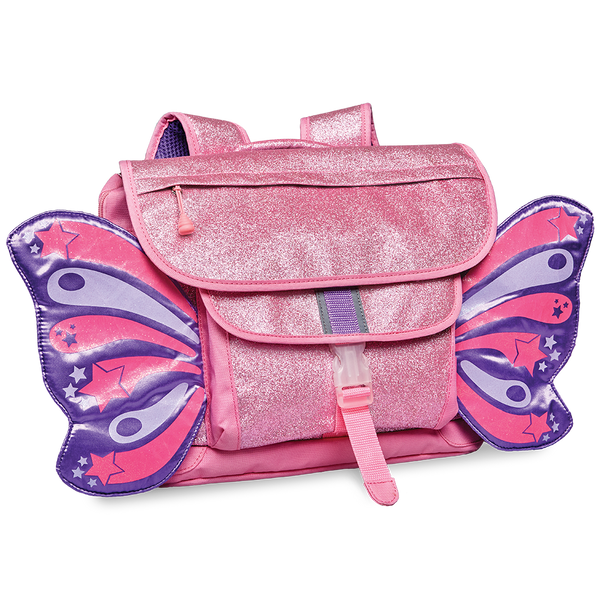Bixbee - Sparkalicious Pink Butterflyer Backpack Medium (Largest size in this style)