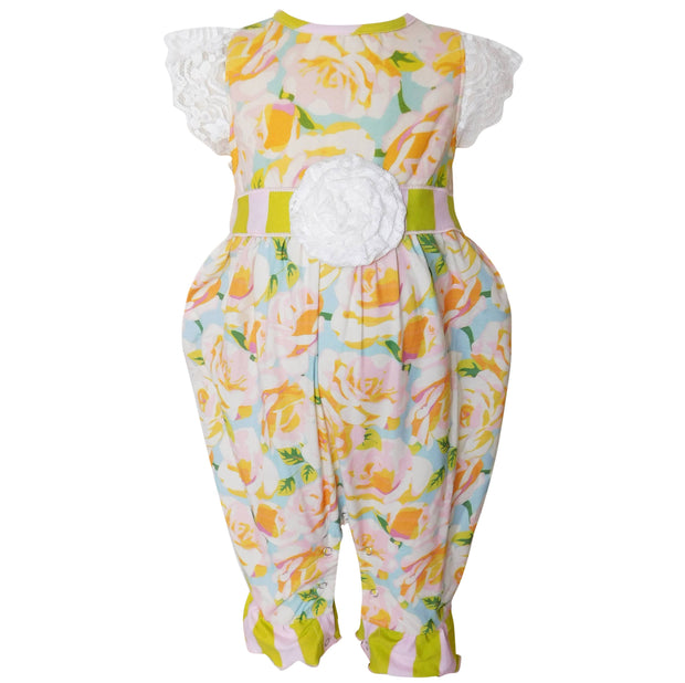 AnnLoren -  Baby Girls Shabby Chic Boutique Romper (4291152511055)
