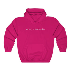 JOURNEY > DESTINATION - Unisex Heavy Blend™ Hooded Sweatshirt