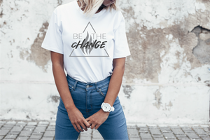 BE THE CHANGE Short Sleeve Unisex Tee (ONLY 2 LEFT)