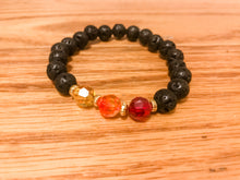 Load image into Gallery viewer, IGNITE YOUR FIRE - Lava Bead & Swarovski Bracelet