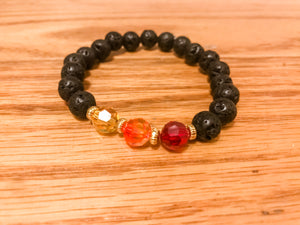 IGNITE YOUR FIRE - Lava Bead & Swarovski Bracelet