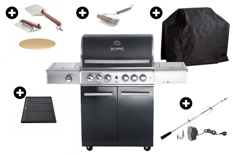 "Top Paket: ALL'GRILL CHEF ""L"" Schwarz"