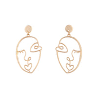 Gold Artist Inspired Face Drop Earring - link has visual effect only