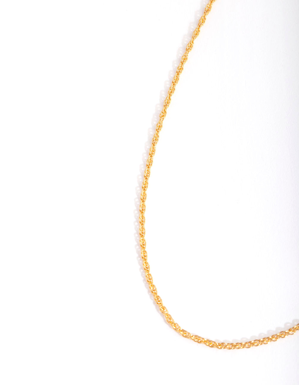 Gold Plated Sterling Silver Twist Chain Necklace