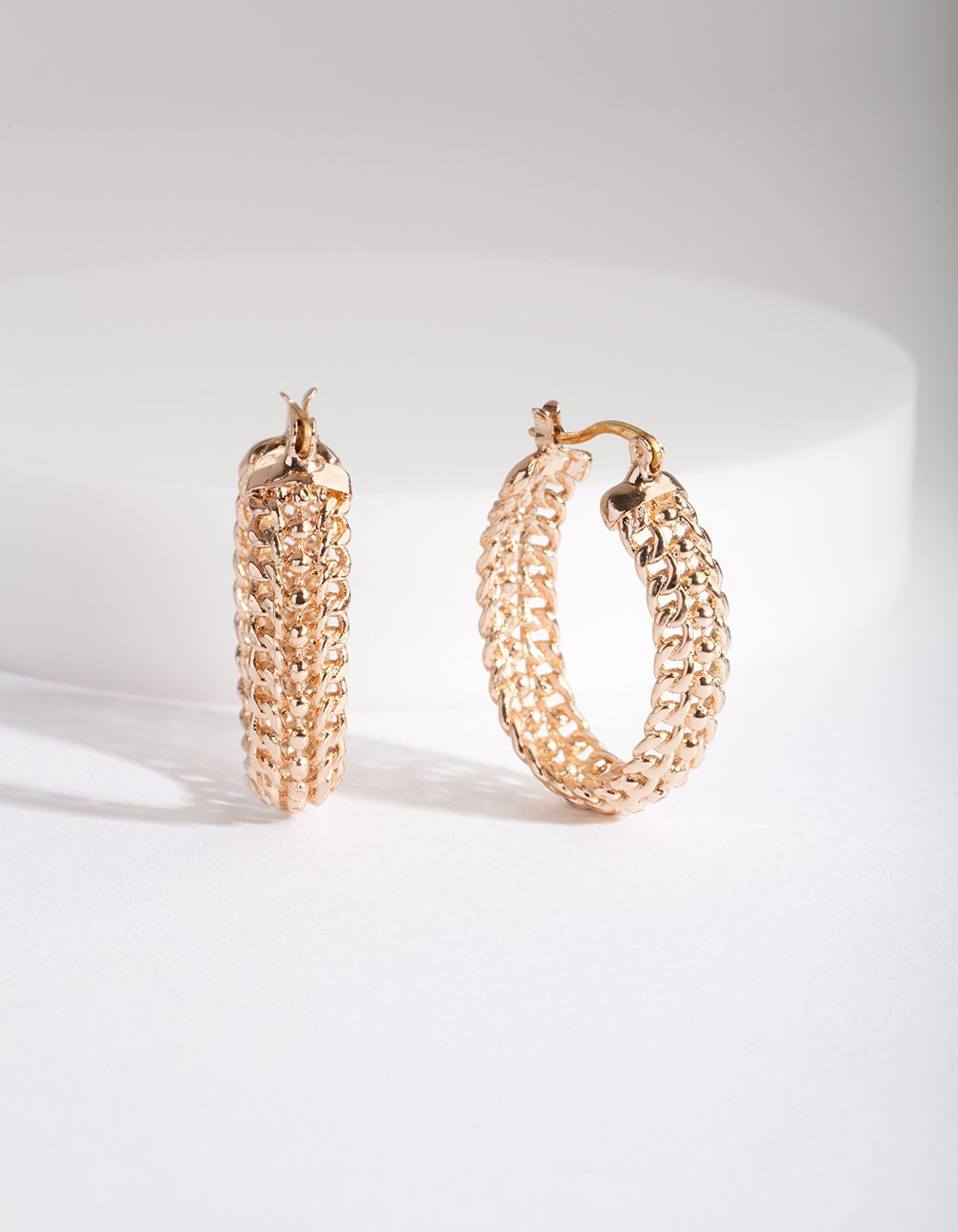 Thick Textured Hoop Earring